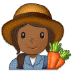 👩🏾‍🌾 woman farmer: medium-dark skin tone Emoji on Samsung Platform