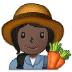 👩🏿🌾 woman farmer: dark skin tone Emoji on Samsung Platform