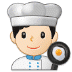 👨🏻‍🍳 man cook: light skin tone Emoji on Samsung Platform