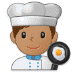 👨🏽‍🍳 man cook: medium skin tone Emoji on Samsung Platform