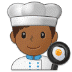 👨🏾‍🍳 man cook: medium-dark skin tone Emoji on Samsung Platform