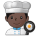 👨🏿‍🍳 man cook: dark skin tone Emoji on Samsung Platform