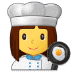 👩‍🍳 woman cook Emoji on Samsung Platform