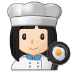 👩🏻‍🍳 woman cook: light skin tone Emoji on Samsung Platform