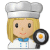 👩🏼‍🍳 woman cook: medium-light skin tone Emoji on Samsung Platform