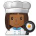 👩🏾🍳 woman cook: medium-dark skin tone Emoji on Samsung Platform