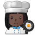 👩🏿🍳 Dark Skin Tone Female Chef Emoji on Samsung Platform