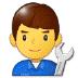 👨🔧 man mechanic Emoji on Samsung Platform