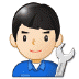 👨🏻🔧 man mechanic: light skin tone Emoji on Samsung Platform