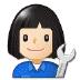 👩🏻🔧 woman mechanic: light skin tone Emoji on Samsung Platform