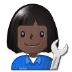 👩🏿🔧 Dark Skin Tone Female Mechanic Emoji on Samsung Platform