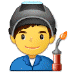 👨‍🏭 man factory worker Emoji on Samsung Platform