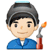 👨🏻‍🏭 man factory worker: light skin tone Emoji on Samsung Platform