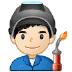 👨🏻🏭 man factory worker: light skin tone Emoji on Samsung Platform