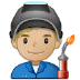 👨🏼🏭 Medium Light Skin Tone Male Factory Worker Emoji on Samsung Platform