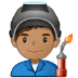 👨🏽‍🏭 man factory worker: medium skin tone Emoji on Samsung Platform