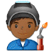 👨🏾‍🏭 man factory worker: medium-dark skin tone Emoji on Samsung Platform