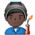 👨🏿‍🏭 man factory worker: dark skin tone Emoji on Samsung Platform