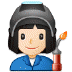 👩🏻‍🏭 woman factory worker: light skin tone Emoji on Samsung Platform