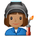 👩🏽‍🏭 woman factory worker: medium skin tone Emoji on Samsung Platform