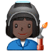 👩🏿‍🏭 woman factory worker: dark skin tone Emoji on Samsung Platform