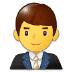 👨💼 man office worker Emoji on Samsung Platform