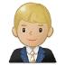 👨🏼💼 man office worker: medium-light skin tone Emoji on Samsung Platform