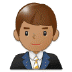 👨🏽‍💼 Medium Skin Tone Male Office Worker Emoji on Samsung Platform