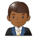 👨🏾💼 Medium Dark Skin Tone Male Office Worker Emoji on Samsung Platform