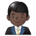 👨🏿‍💼 man office worker: dark skin tone Emoji on Samsung Platform