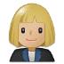 👩🏼💼 woman office worker: medium-light skin tone Emoji on Samsung Platform