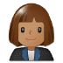 👩🏽‍💼 woman office worker: medium skin tone Emoji on Samsung Platform