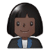 👩🏿‍💼 woman office worker: dark skin tone Emoji on Samsung Platform