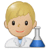 👨🏼🔬 man scientist: medium-light skin tone Emoji on Samsung Platform