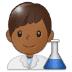 👨🏾🔬 man scientist: medium-dark skin tone Emoji on Samsung Platform
