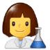 👩🔬 woman scientist Emoji on Samsung Platform