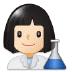 👩🏻🔬 woman scientist: light skin tone Emoji on Samsung Platform