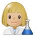 👩🏼🔬 woman scientist: medium-light skin tone Emoji on Samsung Platform