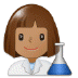 👩🏽‍🔬 Medium Skin Tone Female Scientist Emoji on Samsung Platform