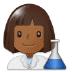 👩🏾🔬 woman scientist: medium-dark skin tone Emoji on Samsung Platform