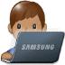 👨🏽💻 man technologist: medium skin tone Emoji on Samsung Platform