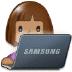 👩🏽💻 woman technologist: medium skin tone Emoji on Samsung Platform