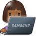 👩🏾💻 woman technologist: medium-dark skin tone Emoji on Samsung Platform