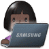 👩🏿‍💻 woman technologist: dark skin tone Emoji on Samsung Platform