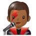 👨🏾🎤 man singer: medium-dark skin tone Emoji on Samsung Platform