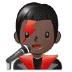 👨🏿🎤 man singer: dark skin tone Emoji on Samsung Platform
