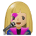 👩🏼🎤 woman singer: medium-light skin tone Emoji on Samsung Platform