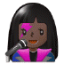 👩🏿‍🎤 woman singer: dark skin tone Emoji on Samsung Platform