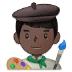 👨🏿🎨 man artist: dark skin tone Emoji on Samsung Platform