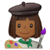 👩🏾🎨 woman artist: medium-dark skin tone Emoji on Samsung Platform